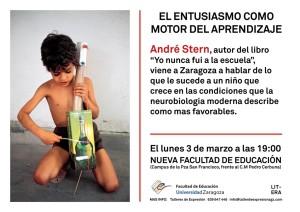 3 Marzo Andre Stern Zaragoza